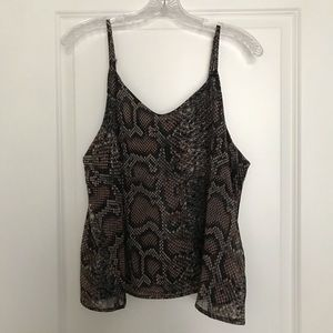 Tops - Snake Print Strappy Blouse